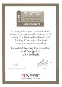 NFRC Gold Safety Award 2019